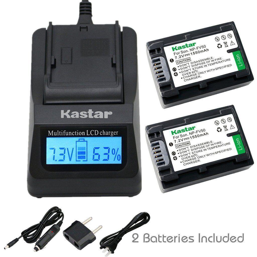 Kastar Fv50 Battery&ultra Fast Charger For Sony Hdr-td30v...