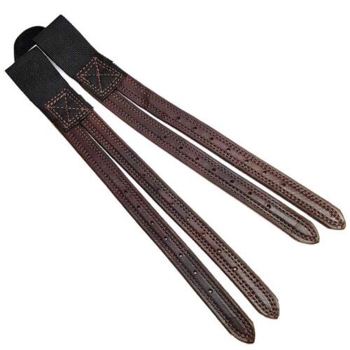 Premium Brown Leather English Billet Replacement Saddle Straps