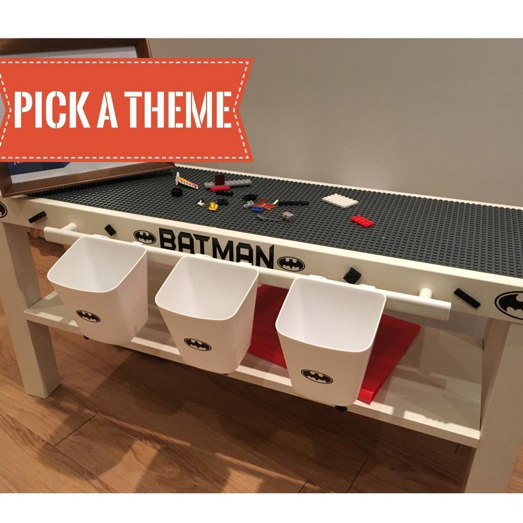 Lego themed batman play table