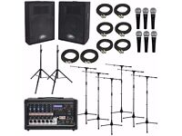 PA Sound System Hire from £50 with free delivery, Event Filming, Speakers Lighting hire, Video booth