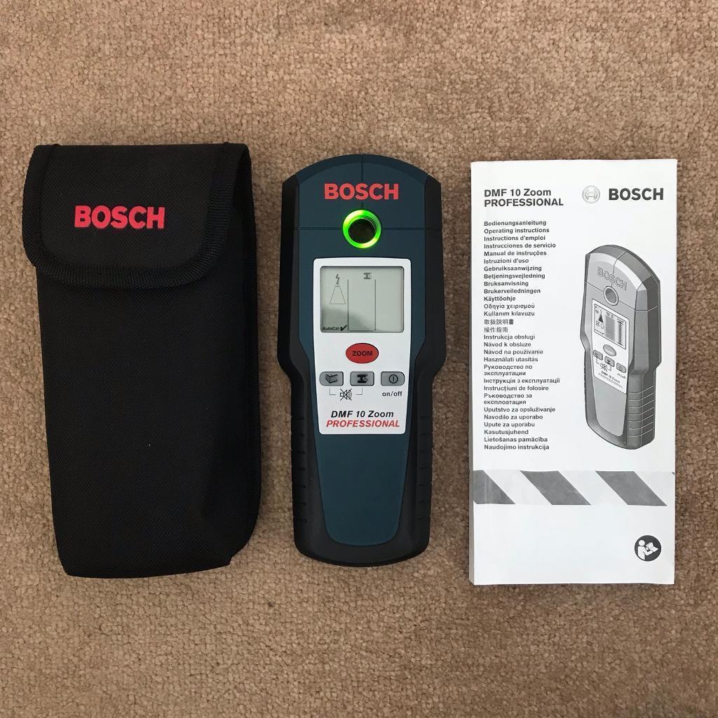 Bosch DMF 10 zoom wall detector (metal, wires, wood)
