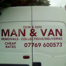 MAN & BIG VAN/SINGLE ITEMS/FULL & PART REMOVALS/SHORT NOTICE/ALL AREAS COVERED/NO JOB 2 SMALL