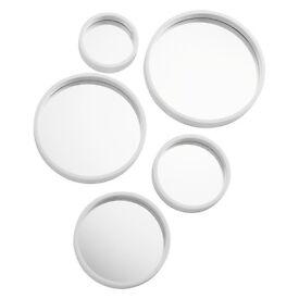 Set of 5 Round Aluminium-framed Mirrors
