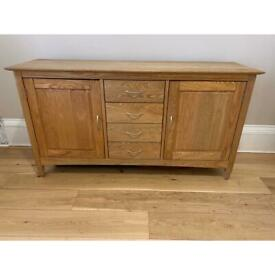 Solid wood sideboard console hall unit