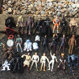 Star Wars figures (old and new)