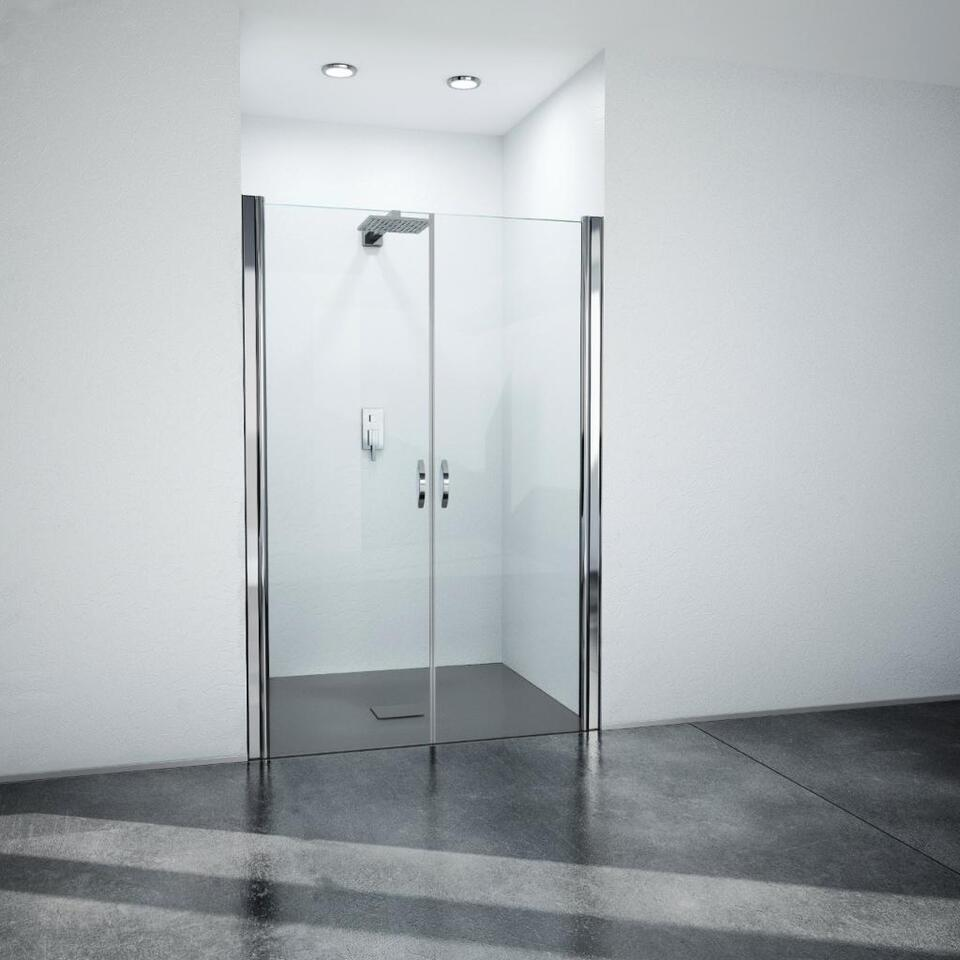 Nischendusche Duschtür Pendeltüren Dusche 70-130x195 cm Klarglas