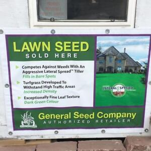 Various GRASS SEEDS for different needs: for shady places, sandy soil, clay soil, drought resistant, slow growing, etc.