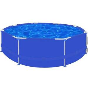 Round Swimming Pool with Steel Frame Blue 300 x 76 cm(SKU90537) Mount Kuring-gai Hornsby Area Preview