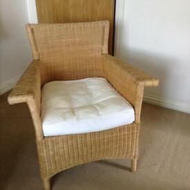 Lovely pair of habitat wicker chairs