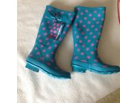 Colourful ladies Wellington boots. Brand new size 5