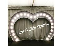 Large giant Love heart walk under arch for hire Nottingham derby love letters