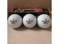 Golf Balls Retro Collectors Item - Dunlop 65i Boxed **Brand New**