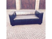 Handmade Real Brown Leather 2 seater Sofa