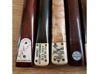 Old 1Piece Snooker Billiards Cues