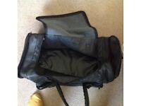 Black sports bag with zips n handles