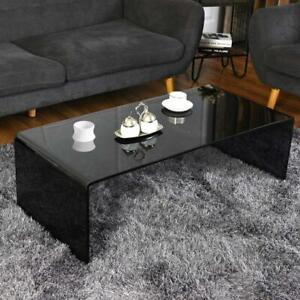NEW CLEAR OR SMOKED WATERFALL GLASS COFFEE TABLE MODERN Edmonton Edmonton Area Preview