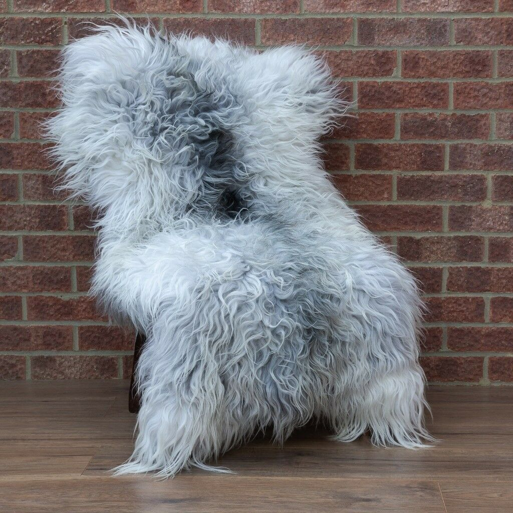 Extra Large Sheepskin Rug Unique Grey