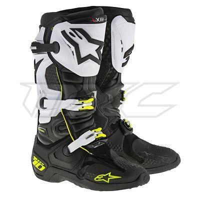 Alpinestars Boots Tech 10 black white flou yellow 12
