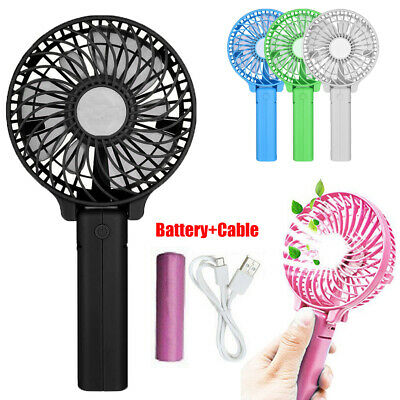 Portable Handheld Personal Fan Battery Operated USB Air Cooler Fan +18650 +Cable