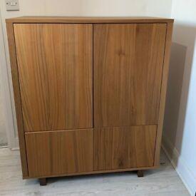 IKEA STOCKHOLM Cabinet Unit, Walnut Veneer 90x107 cm