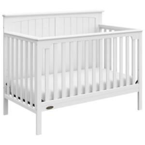 Graco 04533-301 Jordan 4-in-1 Convertible Crib - White  (New Other) (Open box)