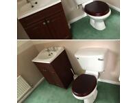Toilet & sink vanity unit