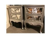 2 stylish matching bedside tables