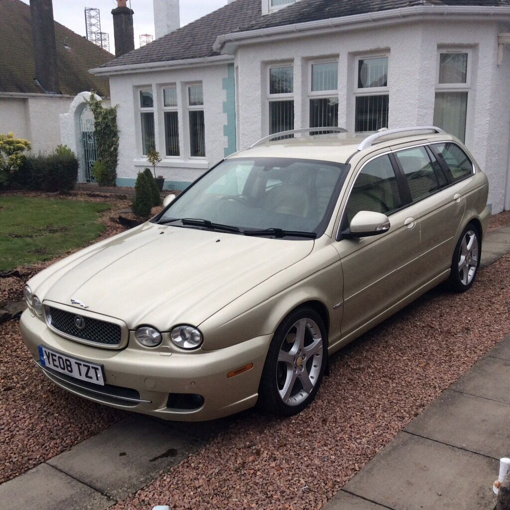 gold jaguar x type diesel estate 08 plate in dundee. Black Bedroom Furniture Sets. Home Design Ideas