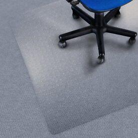 Chair Mat for Carpet Floors, Low/Medium Pile - 100x120cm (3.3'x4')