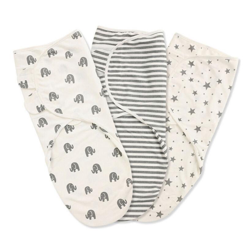 Newborn Baby Boy Girl Swaddle Bag Wrap Blanket Stars Stripe