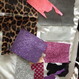 2kg of materials for bows/head bands craft fair