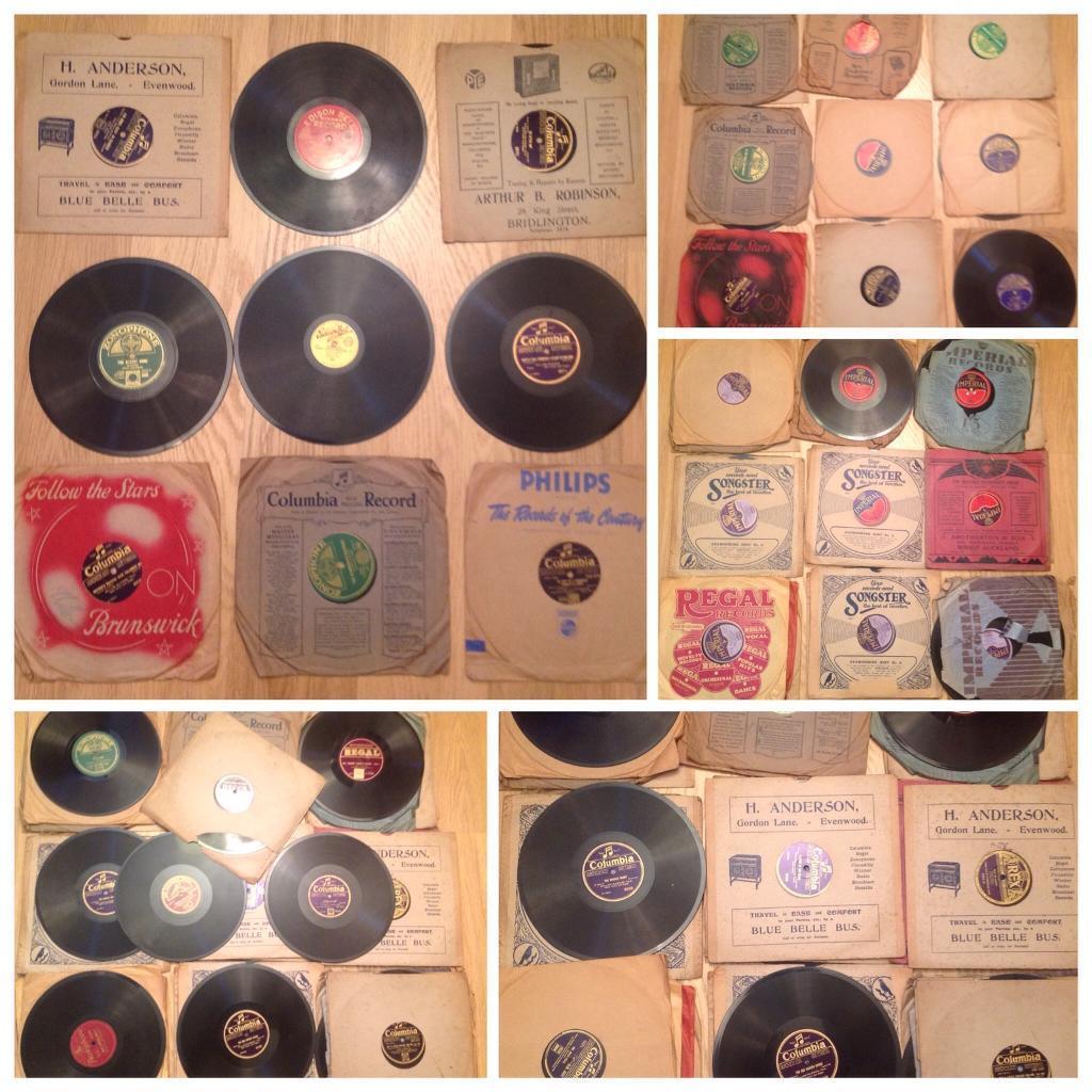 Job lot of 45 78 RPM Records - 1909 onwards