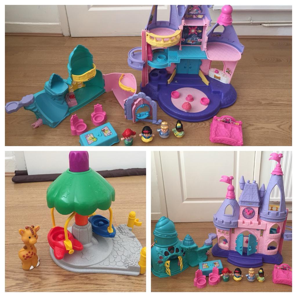 fisher price little people castle ariel and carousel in swinton
