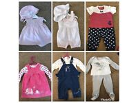 Bundle of baby girls clothes 3-6months