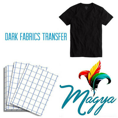 Dark Fabrics-blue Grid - 25sh 8.5x11 Heat Transfer Paper For Ink Jet Printing