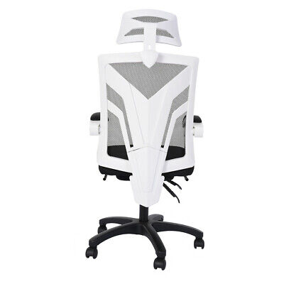 Office Chair Ergonomic High Back High Executive Computer Desk Mesh Pu White