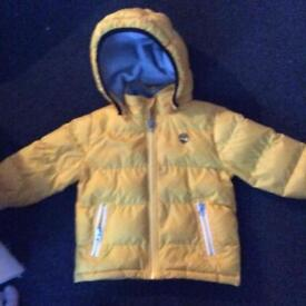 Timberland padded Jacket age 2. Boys and girls shoes + wellingtons.