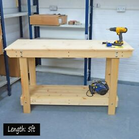 Wooden Workbench | STRONG WELL BUILT | Various Sizes Available, also BESPOKE