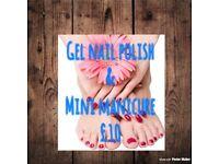 Gel Nails & Mini Manicure £10 By Trainee