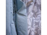 kingsize pale blue duvet cover