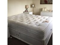 King Size Bed Only 4 months Old cost £700 very good quality with 4 drawers