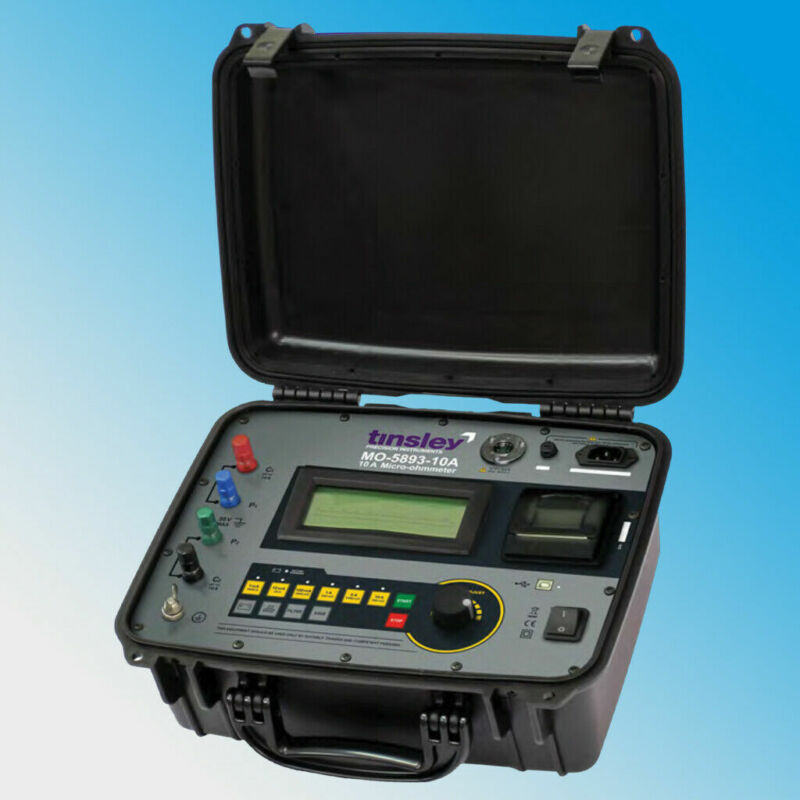 Tinsley MO-5893-10A Micro-ohmmeter 10 Amps 2000Ω Low Resistance Ohmmeter 10A