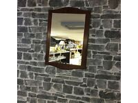 Vintage Dark Wood Framed Mirror