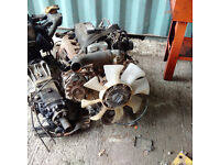 Mazda T3000 3.0 diesel engine and gearbox complete with axles.