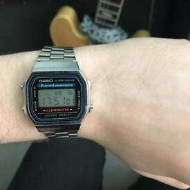 Vintage Casio silver watch