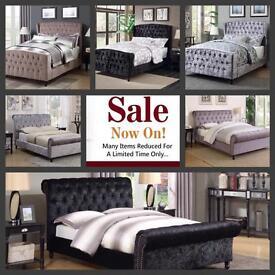 Upholstered Bed Double Bed 4ft Kingsize Bed 5ft
