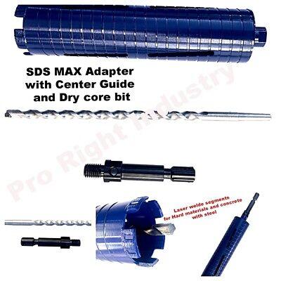 Bosch Hammer Drill 4 Dry Core Bit Sds Max Adapter Center Guide