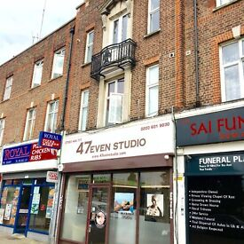 MODERN FLAT 1 BEDROOM FURNISHED,ABOVE LOCAL SHOPS,7 MINS WALK TO SUDBURY HILL TUBE STATION TO LET