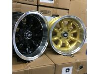 """13"""" Superlite style alloy wheels in Ford 4x108 Fitment, various colours available.."""