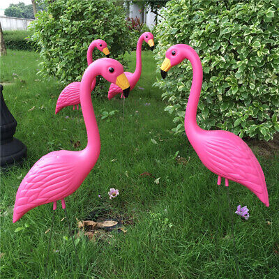 Lawn Ornament Pink Flamingo Art Plastic Garden Animal Party Wedding Decor #3